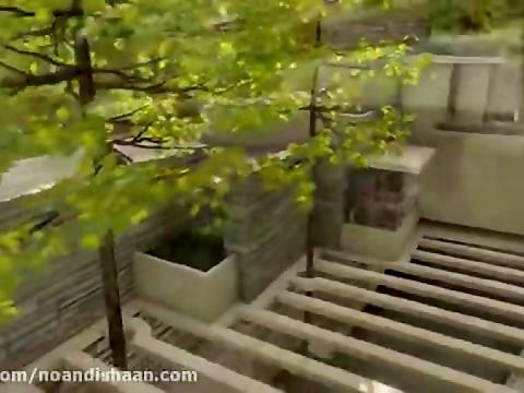 انیمیشن مراحل ساخت خانه آبشار